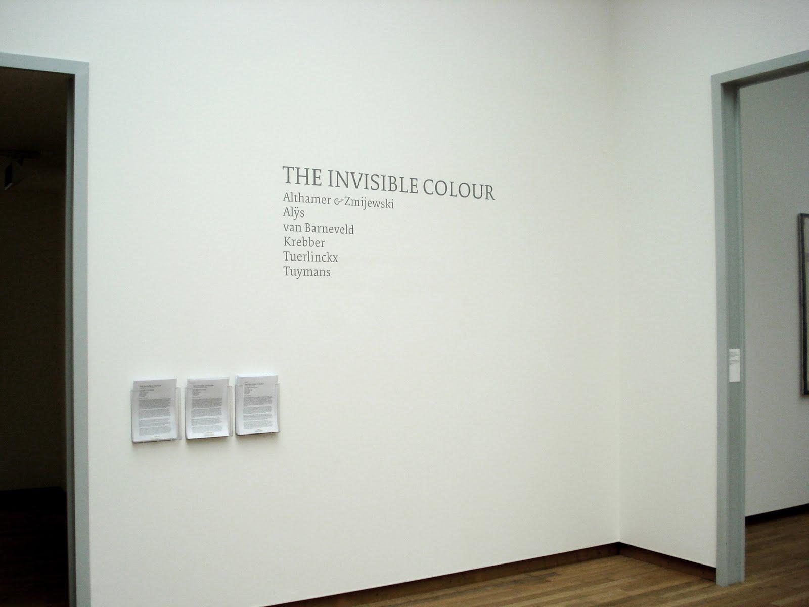 invisible colour